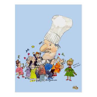 Cocinero divertido del francés del dibujo animado postal