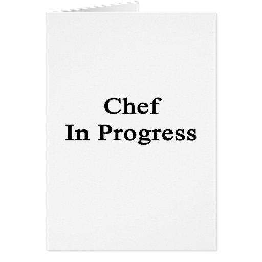 Cocinero en curso tarjetas