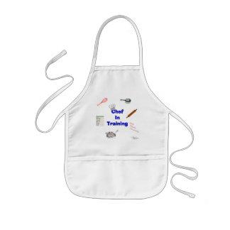 Cocinero en el entrenamiento delantal infantil
