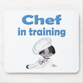 Cocinero en el entrenamiento tapetes de ratones
