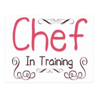 Cocinero en el entrenamiento tarjeta postal