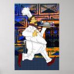 Cocinero en el funcionamiento poster