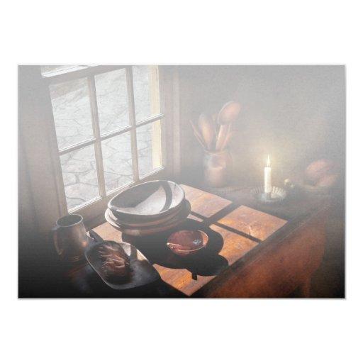 Cocinero - en un cuadro II Invitación 12,7 X 17,8 Cm