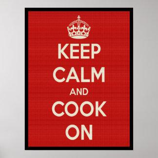 Cocinero encendido póster