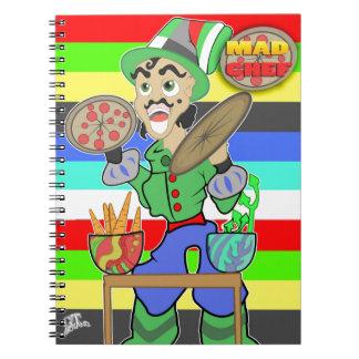 Cocinero enojado libro de apuntes