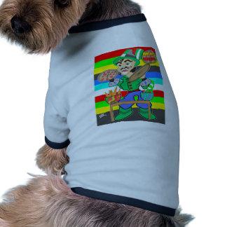 Cocinero enojado camiseta con mangas para perro