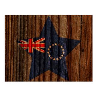 Cocinero+Estrella de la bandera de las islas en el Tarjeta Postal