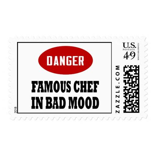Cocinero famoso divertido sellos