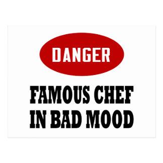 Cocinero famoso divertido postal