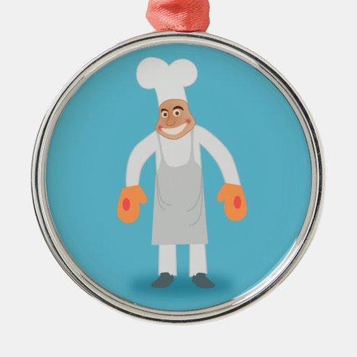 Cocinero feliz adorno para reyes