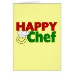Cocinero feliz felicitación