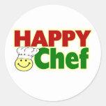 Cocinero feliz pegatina
