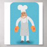 Cocinero feliz posters