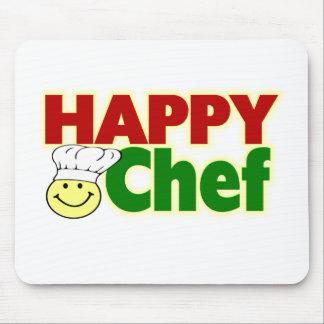 Cocinero feliz tapete de ratón