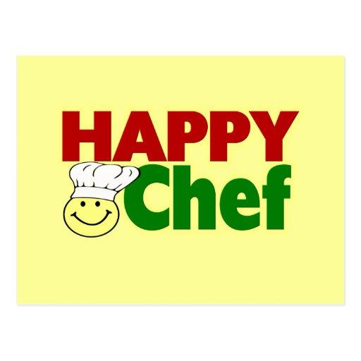 Cocinero feliz tarjeta postal