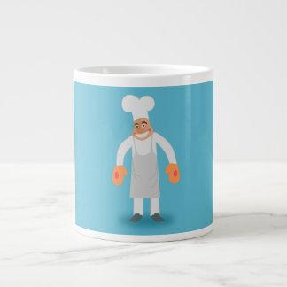 Cocinero feliz taza jumbo