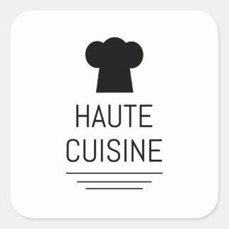 Cocinero francés de la cocina de Haute que cocina Pegatina Cuadrada