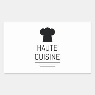 Cocinero francés de la cocina de Haute que cocina Pegatina Rectangular