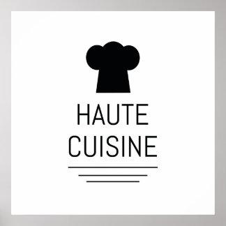 Cocinero francés de la cocina de Haute que cocina Póster