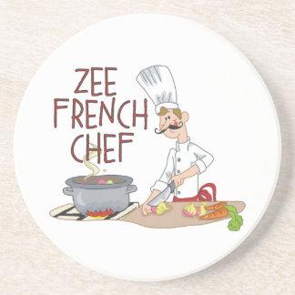 Cocinero francés divertido posavaso para bebida