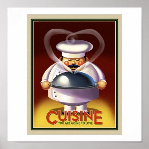 Cocinero francés póster