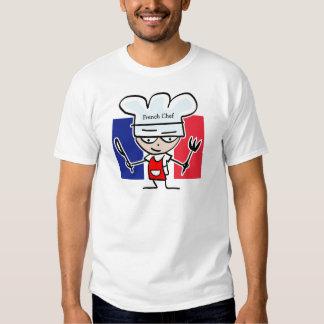 Cocinero francés que cocina la camiseta - texto playera