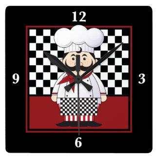 Cocinero francés reloj cuadrado