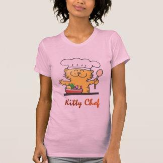 Cocinero fresco divertido del gatito del gatito el playera