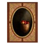 Cocinero - fruta - manzanas tarjeta postal
