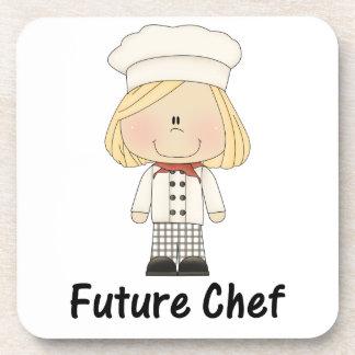cocinero futuro (chica) posavasos de bebida