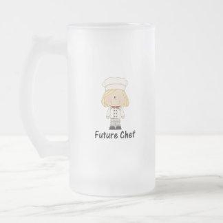cocinero futuro (chica) taza cristal mate