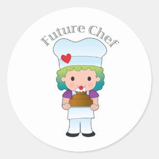 Cocinero futuro etiquetas redondas