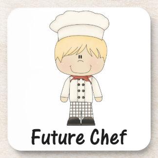 cocinero futuro (muchacho) posavasos de bebida