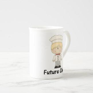 cocinero futuro (muchacho) taza de porcelana