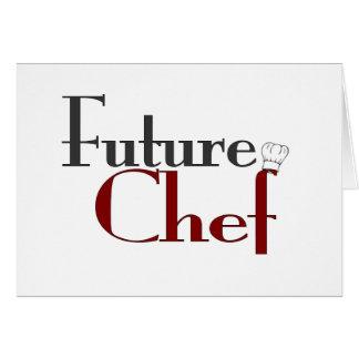 Cocinero futuro tarjetón