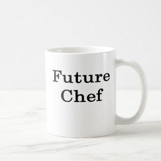 Cocinero futuro taza básica blanca
