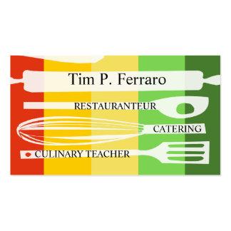 Cocinero gastrónomo culinario tarjetas de visita