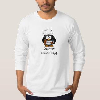 Cocinero gastrónomo del cookout - camiseta larga playera