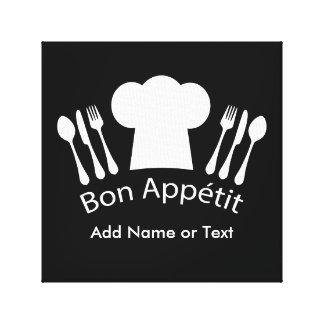 Cocinero gastrónomo del gorra francés del cocinero impresión en lona estirada