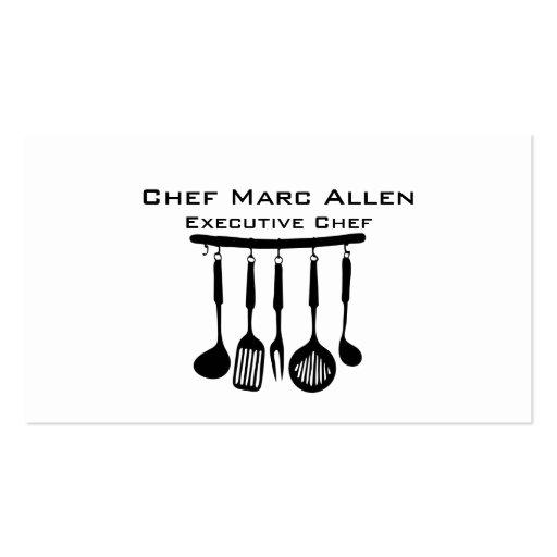 Cocinero gastrónomo plantillas de tarjetas de visita