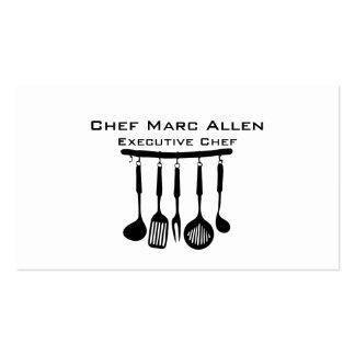 Cocinero gastrónomo tarjetas de visita