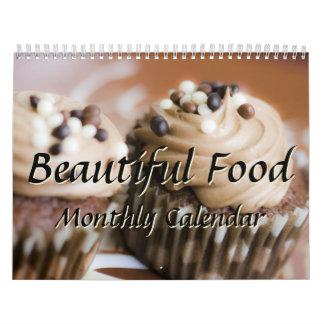 Cocinero hermoso de la cocina de la comida que calendario