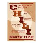 Cocinero intrépido grande del chile de la invitaci invitaciones personalizada