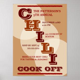 Cocinero intrépido grande del chile del poster de  póster
