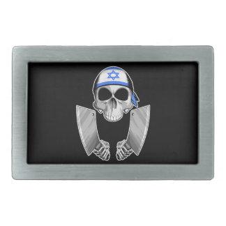 Cocinero israelí 2 hebilla de cinturon rectangular