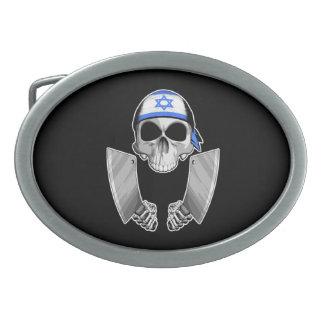 Cocinero israelí 2 hebillas de cinturón ovales