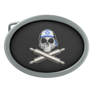 Cocinero israelí 3 hebilla cinturon oval