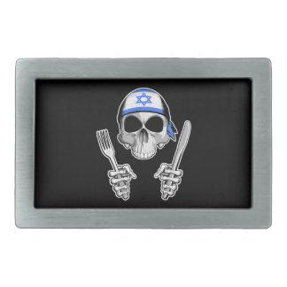 Cocinero israelí 4 hebilla de cinturon rectangular