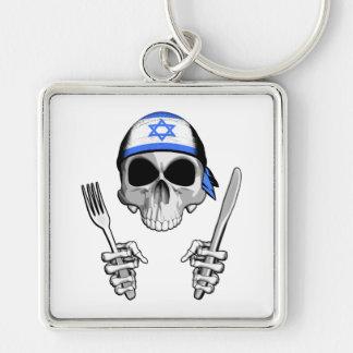 Cocinero israelí 4 llaveros personalizados
