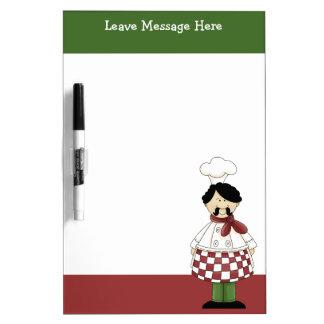Cocinero italiano 2 pizarras blancas